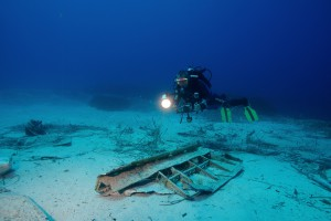 One of the pieces of the plane that was studied during the mission © Octopus Foundation