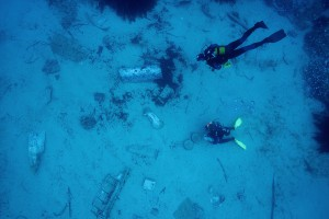 A view from the top of the zone where the plane's debris lay still © Octopus Foundation