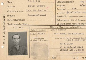 Harold Yorke's prisoner card, soon after he was captured by the Germans in Greece © Yorke Family