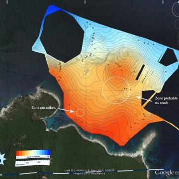 sée grâce à notre voilier d'expédition. Les profondeurs sont en mètres © Octopus Foundation