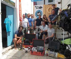 L'équipe de la Fondation Octopus lors de l'expédition pilote en Grèce - ©Fondation Octopus