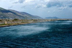 Les tempêtes d'automne dans la région d'Otrante peuvent être particulièrement violentes © Philippe Henry / Octopus Foundation