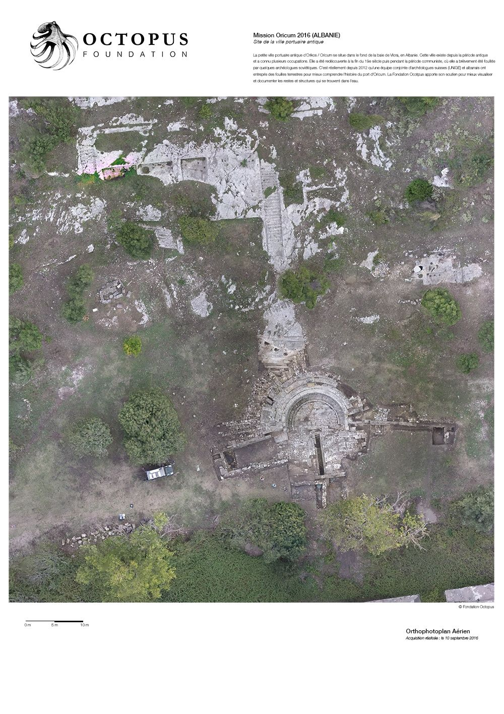 L'orthophotoplan de la cité antique d'Oricum © Octopus Foundation