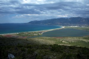 A panoramic view of ancient Oricum, the lagoon and the shore © Octopus Foundation