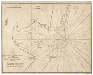 Carte ancienne de la côte du Mozambique au niveau de l'île de Mozambique © Wikipedia