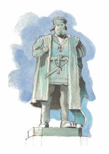 Vasco de Gama as seen by Antoine Bugeon's pen © Octopus Foundation