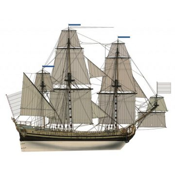 The model of a three masts