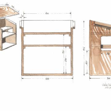 La boîte en bois conçue pour abriter les éléments électroniques qui ne sont pas dans la grotte et qui ne sont pas étanches © Octopus Foundation / Antoine Bugeon