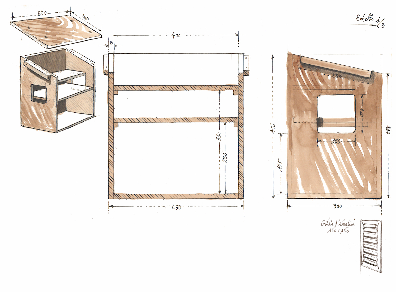 La boîte en bois conçue pour abriter les éléments électroniques qui ne sont pas dans la grotte et qui ne sont pas étanches © Octopus Foundation