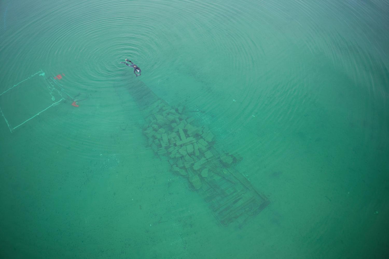 Fouilles archéologiques d'une barge du 18ème siècle © Octopus Foundation