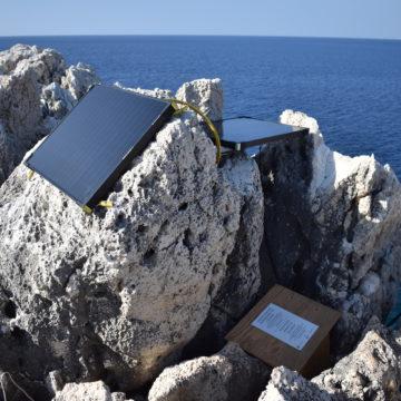 Premier prototype de système de surveillance autonome installé en Grèce en 2018 © Octopus Foundation